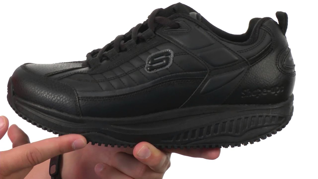 black skechers shape ups for work