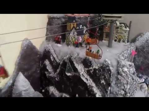 Christmas Village Ski Lift.Extraordinary Department 56 Lemax Christmas Village With A One Of A Kind Ski Lift