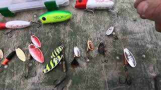 Рыбалка для души и небольшой обзор блёсен.