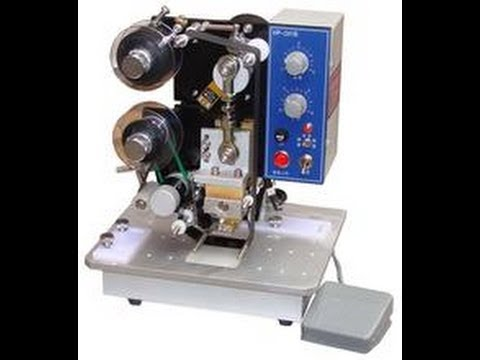 hot stamping date coder hot ribbon coder machine date coding machine for label and plastic bags
