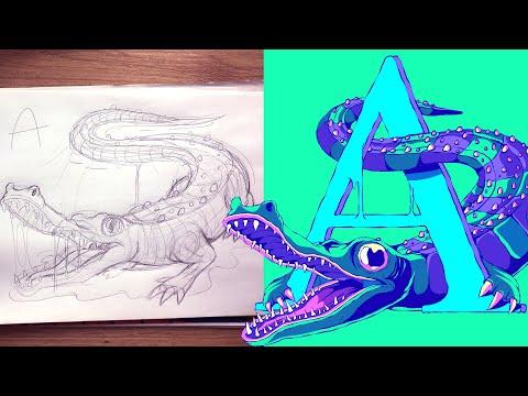 A-Z AnimalZ - Illustration Process