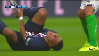 Perrin is sent off for a nasty tackle on Kylian Mbappe