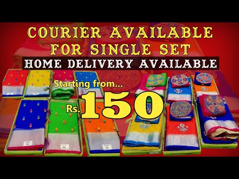 Exclusive Fancy Saree Collection @150    Single Set Home Delivery Available    No Need to Pay GST