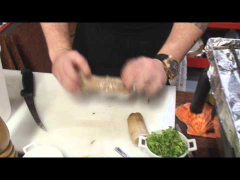 Chef Daniel Barron - How to clean and cut geoduck