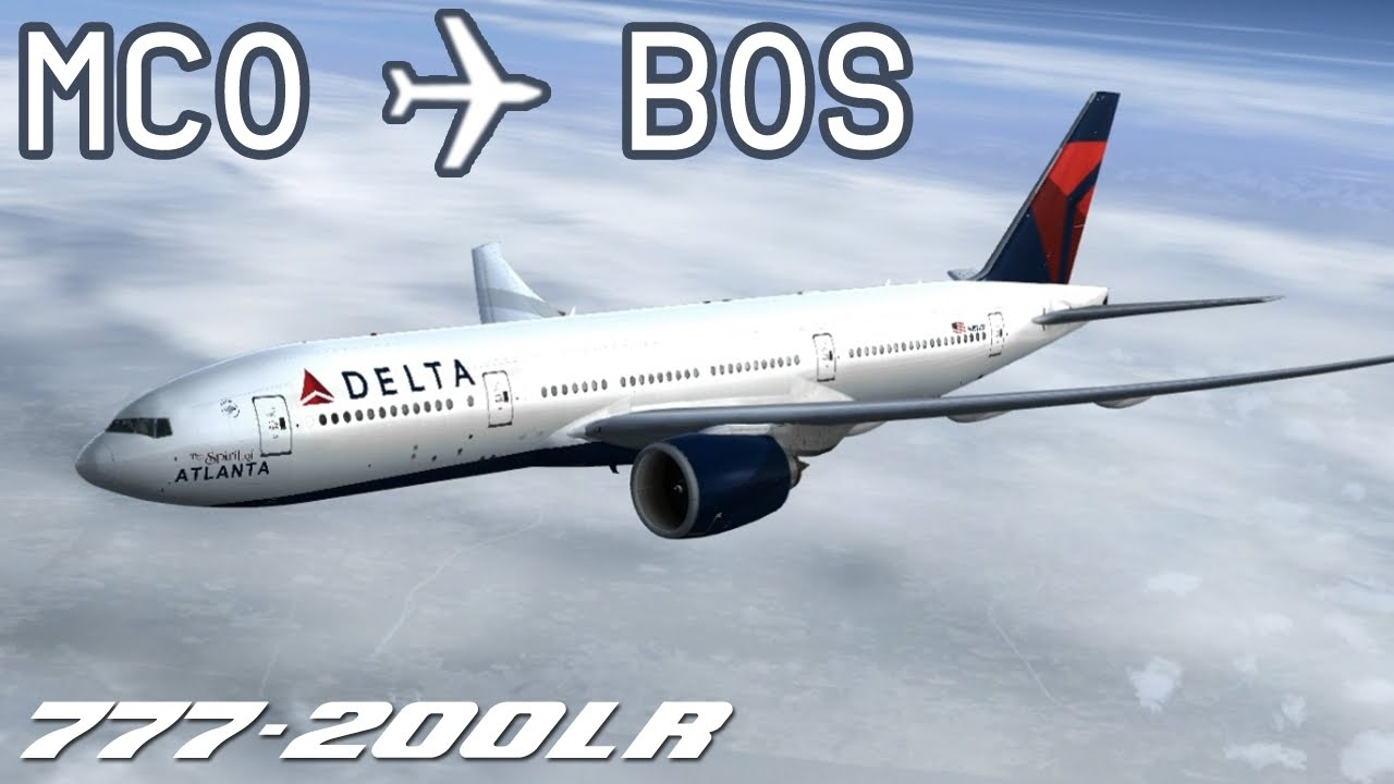 [FSX] Orlando to Boston | DAL1102 | Delta Air Lines | PMDG 777-200 | IVAO