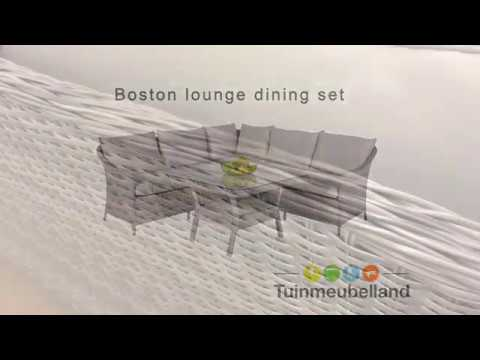 Boston lounge dining set merk garden impressions youtube
