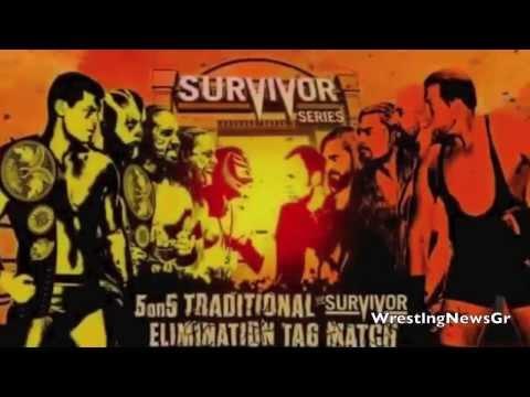 WWE Survivor Series 2013 Match Card