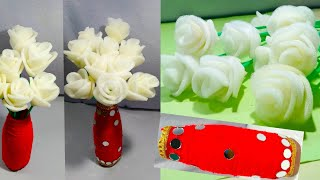 GULDASTA/FOAM ROSE FLOWER GULDASTA/NEW DESIGN FOAM/FLOWER POT/PLASTIC BOTTLE FLOWER VASE/FOAM ROSE