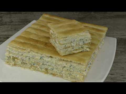 ЗАКУСОЧНЫЙ торт НАПОЛЕОН БЕЗ ВЫПЕЧКИ за 5 МИНУТ