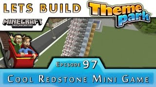 Minecraft :: Lets Build A Theme Park :: Cool Redstone Mini Game :: E97