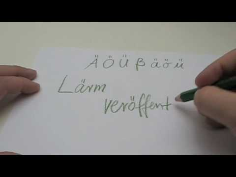 Writing german Umlauts / Umlaute