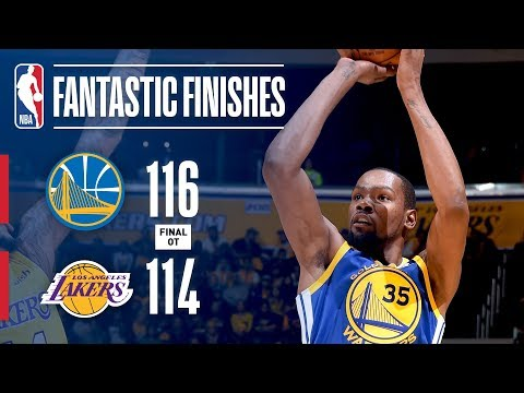 Down-to-the-Wire Action in OT Between the Warriors and Lakers | December 18, 2017