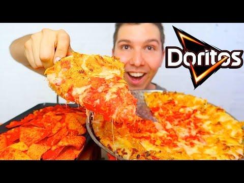HOT DORITOS CHEESY PIZZA • Mukbang & Recipe thumbnail