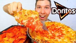 HOT DORITOS CHEESY PIZZA • Mukbang & Recipe
