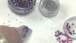 aquarium water bubble nail art STEP by STEP