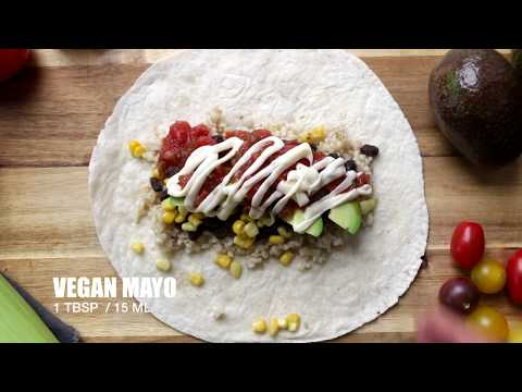 black beans burritos | The Buddhist Chef