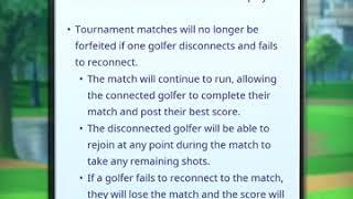 Golf Clash INFO - November Update, No more +1 in Tourneys!