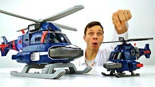 Доктор Ой увеличил вертолет! Роботы Трансформеры для детей