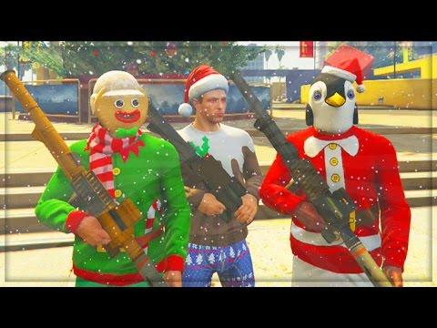 GTA 5 Online Christmas DLC Update! GTA Online DLC Cars Gameplay (GTA ...