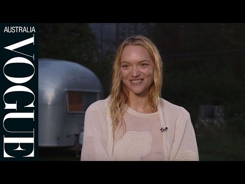 One minute with Gemma Ward on the set of her Vogue cover shoot.
