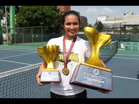 UAAP 78 Women's Tennis Finals   Christine Patrimonio NU Vs Macy Gonzalez UST March 24, 2016