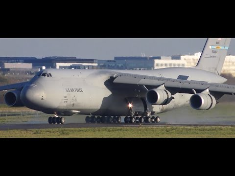 C-5 Galaxy US Air Force | Landing in Paris Orly Airport [4K]