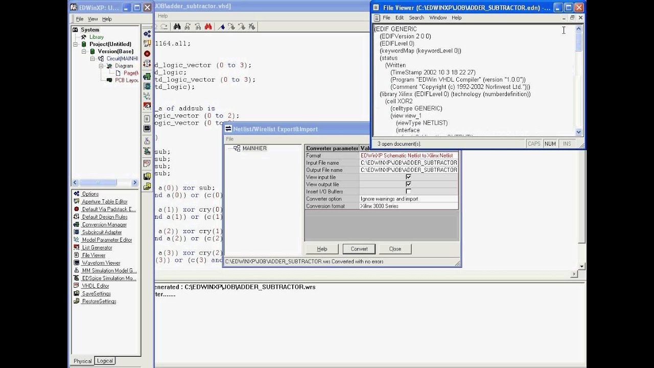 VHDL to Xilinx conversion Xilinx Schematic Tutorial on