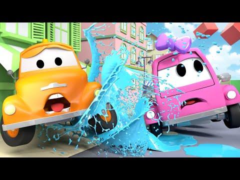 Linda Suzy - Tom o Caminhão de Reboque na Cidade do Carro  Desenhos animados crianças