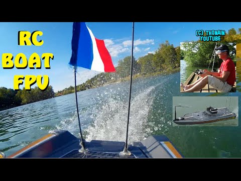 RC BOAT FPV - WAVE BREAKER - BATEAU RADIO COMMANDE PILOTE EN IMMERSION CAM ONBOARD