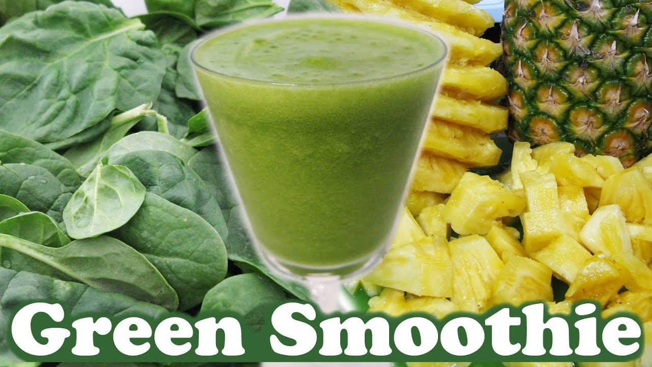 Healthy Green Smoothie Challenge Spinach Pineapple Organic Honey