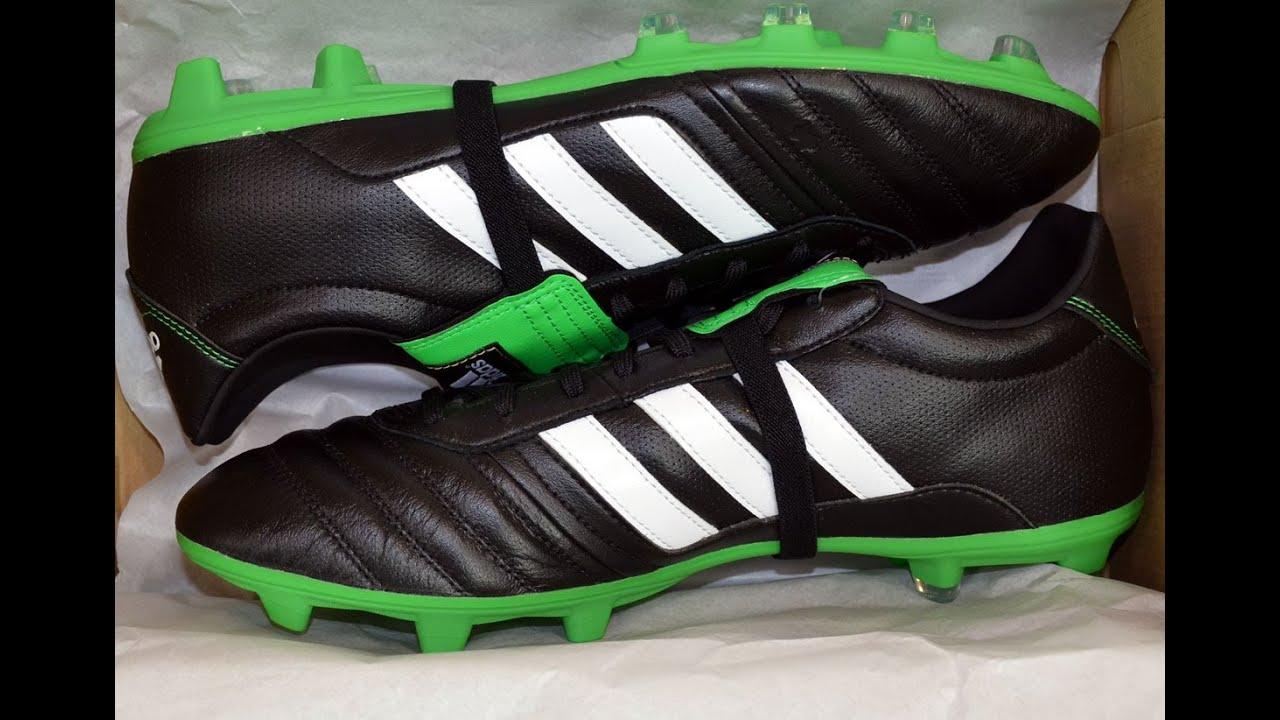 bfa02d0bee Adidas Gloro FG black green - K-Leder - Fussballschuhe - YouTube