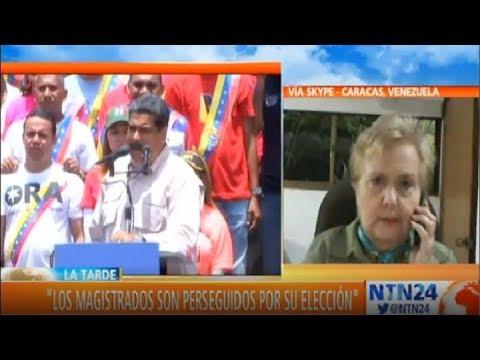 Interpol podría actuar contra Maduro: Exmagistrada Blanca Rosa Mármol