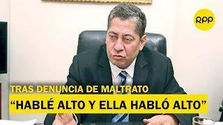 Eloy Espinosa-Saldaña responde tras denuncia por maltratos a funcionaria del TC