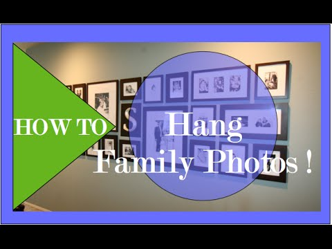 Interior Design |DIY Family Photo Gallery | How to hang pictures