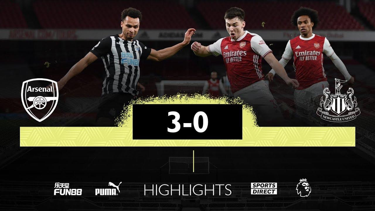 Арсенал  3-0  Ньюкасл видео