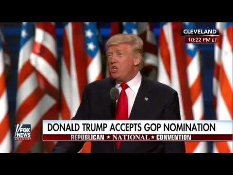 Full speech: Donald Trump accepts GOP nomination, Part 1 ...