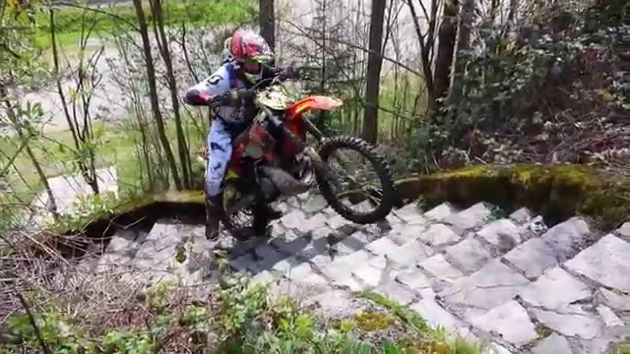 ktm exc 300 hard crash rekluse clutch - youtube