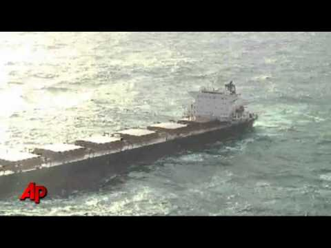 Raw Video: Tug Boat Rescues Stranded Cargo Ship