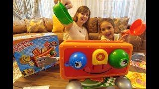 Çılgın Tostçu oynadık, elif mi lera mı kim kazandı ?? Eğlenceli çocuk videosu, toys unboxing