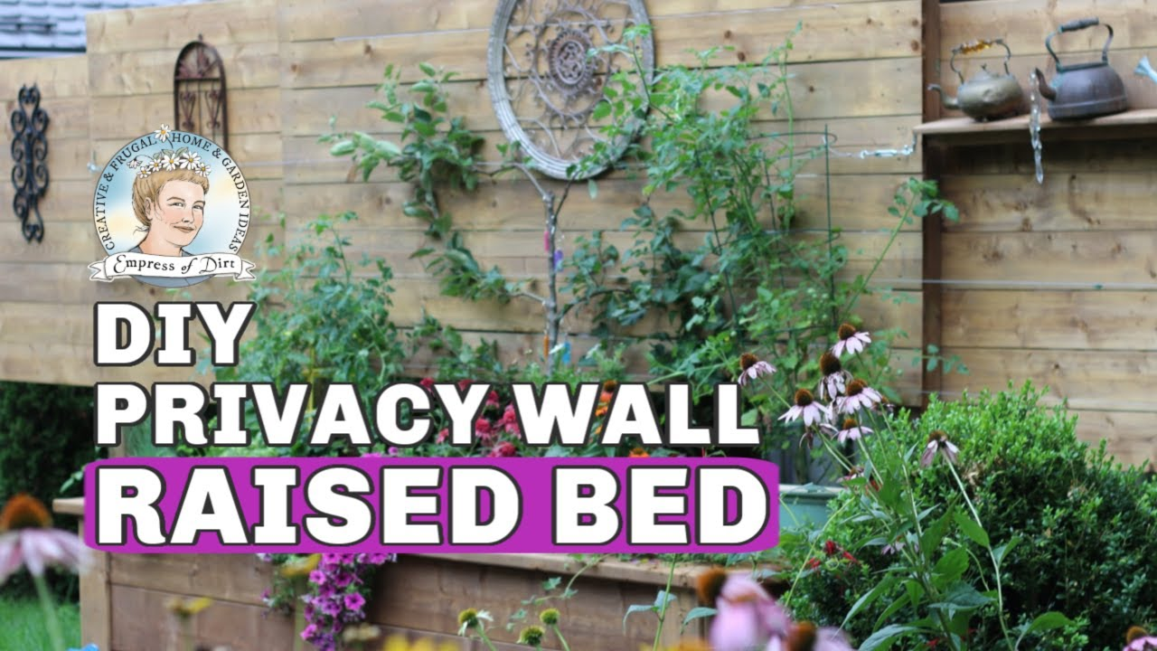 DIY Raised Garden Bed with Privacy Wall on backyard food ideas, backyard designs, backyard lights ideas, backyard family ideas, backyard beauty ideas, pool ideas, backyard spa, home ideas, backyard business ideas, backyard entertainment ideas, playground flooring ideas, backyard views ideas, backyard shop ideas, backyard space ideas, backyard landscaping, backyard security ideas, unusual yard ideas, backyard fences, yard fence ideas, backyard passage ideas,