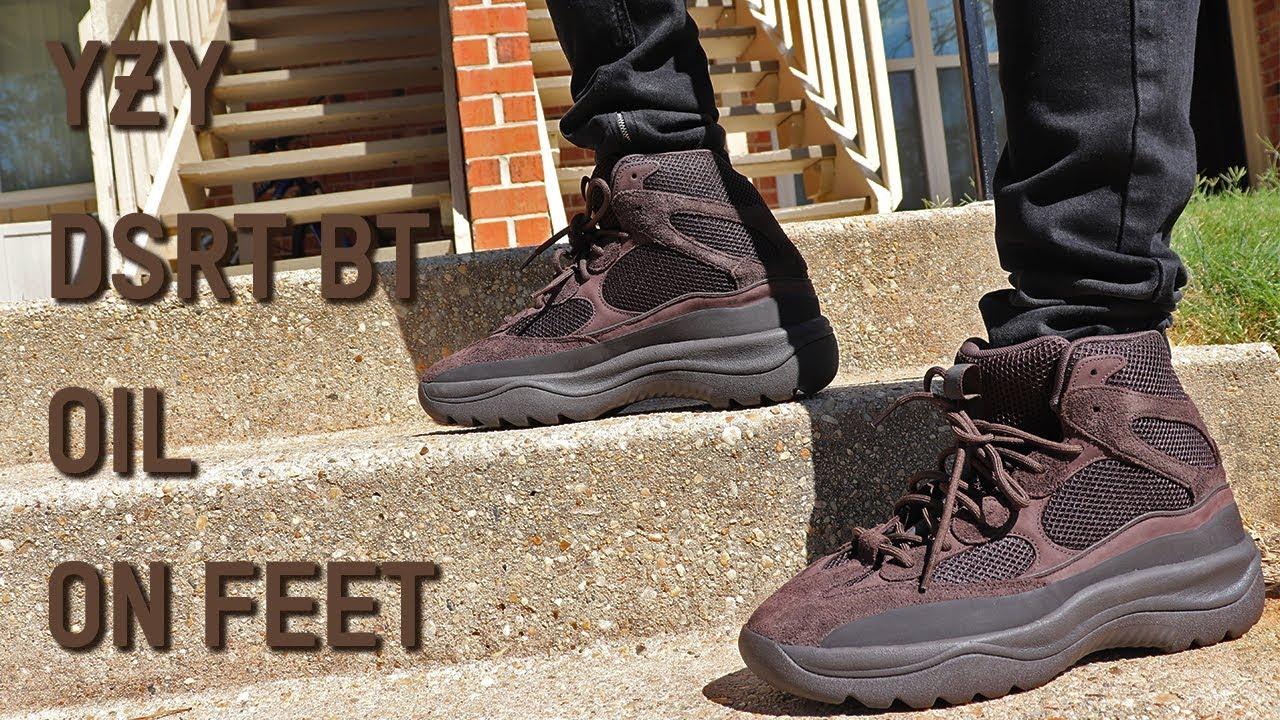Yeezy Desert Boot Oil On Feet Review