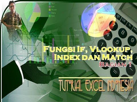 Tutorial Excel Indonesia : Fungsi IF Vlookup Index dan Match Bagian 1
