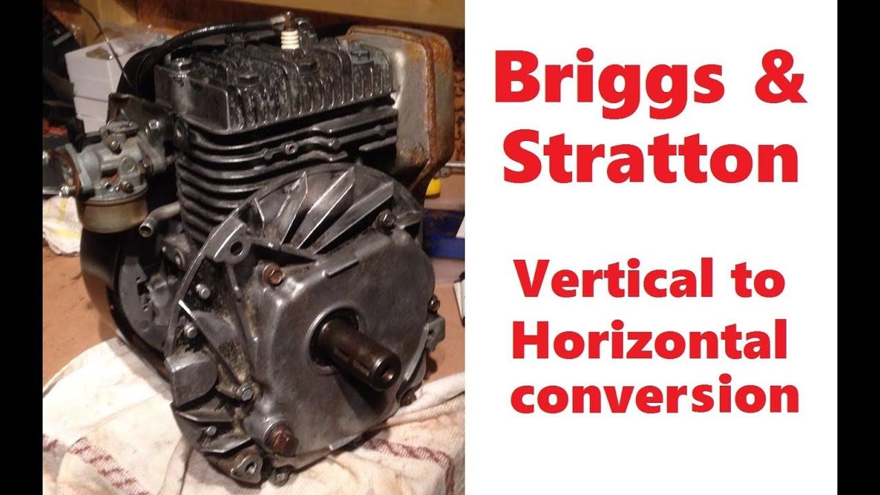 Vertical Shaft Engine Go Kart : Briggs stratton vertical to horizontal conversion for go