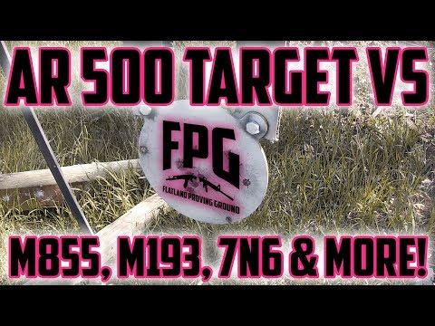 AR500 Steel vs. M855, M193, 5.45x39 7N6, Steel Jacketed Bullets & More! 50-200 Yards