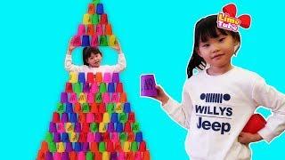 라임의 무한도전 컵쌓기 장난감 놀이 LimeTube toy review