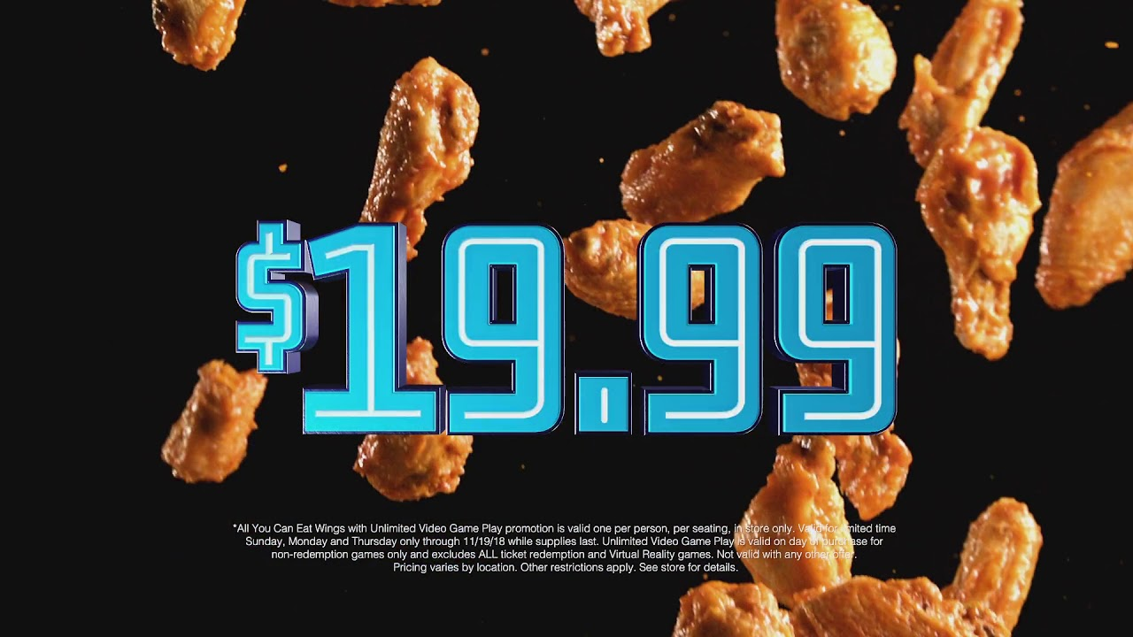 Dave & Buster's | Unlimited Video Game Play + Unlimited Wings for ONLY  $19 99*