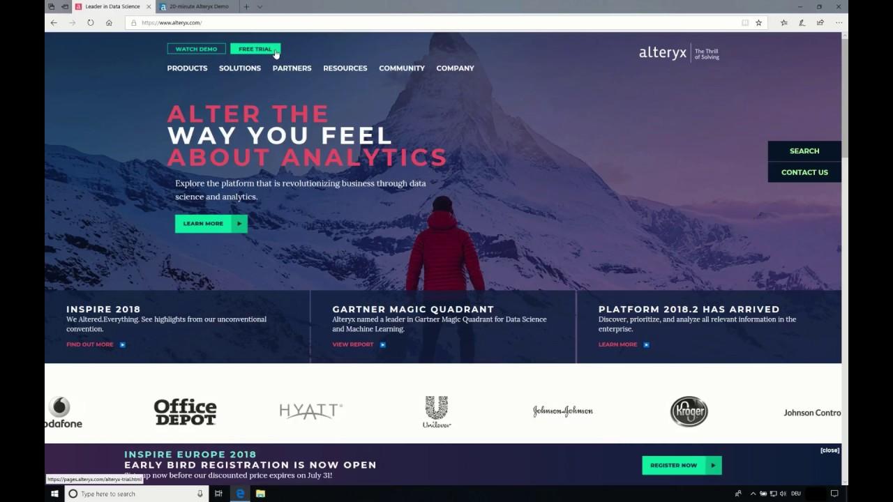 Download und Installation von Alteryx Designer für Windows