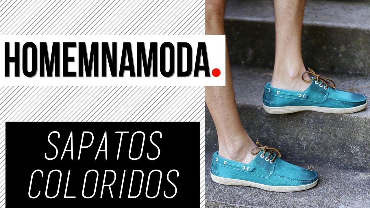 d48a892db Sapatos Coloridos - Homem na Moda - YouTube