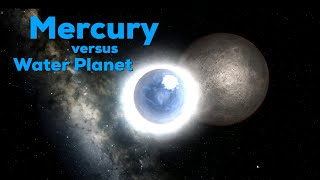 What if a Water Planet hit Mercury