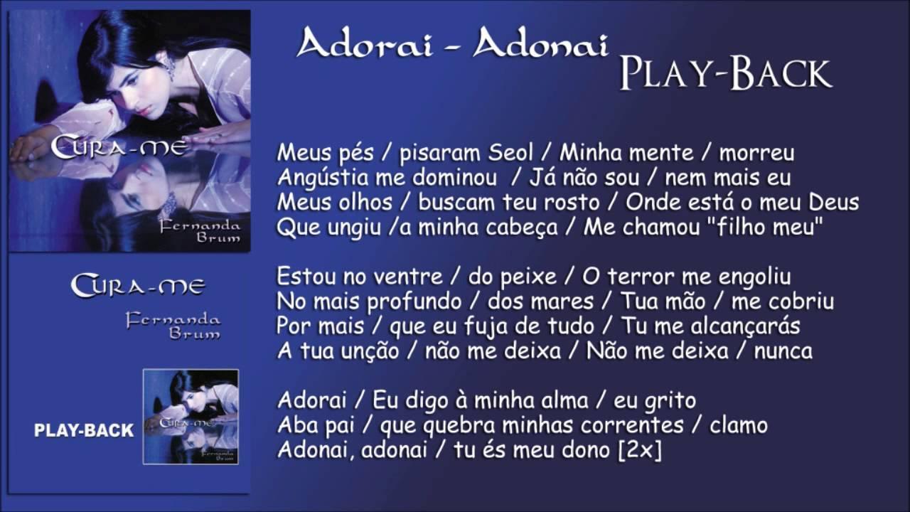Adorai Adonai Playback Fernanda Brum Cd Cura Me 2008